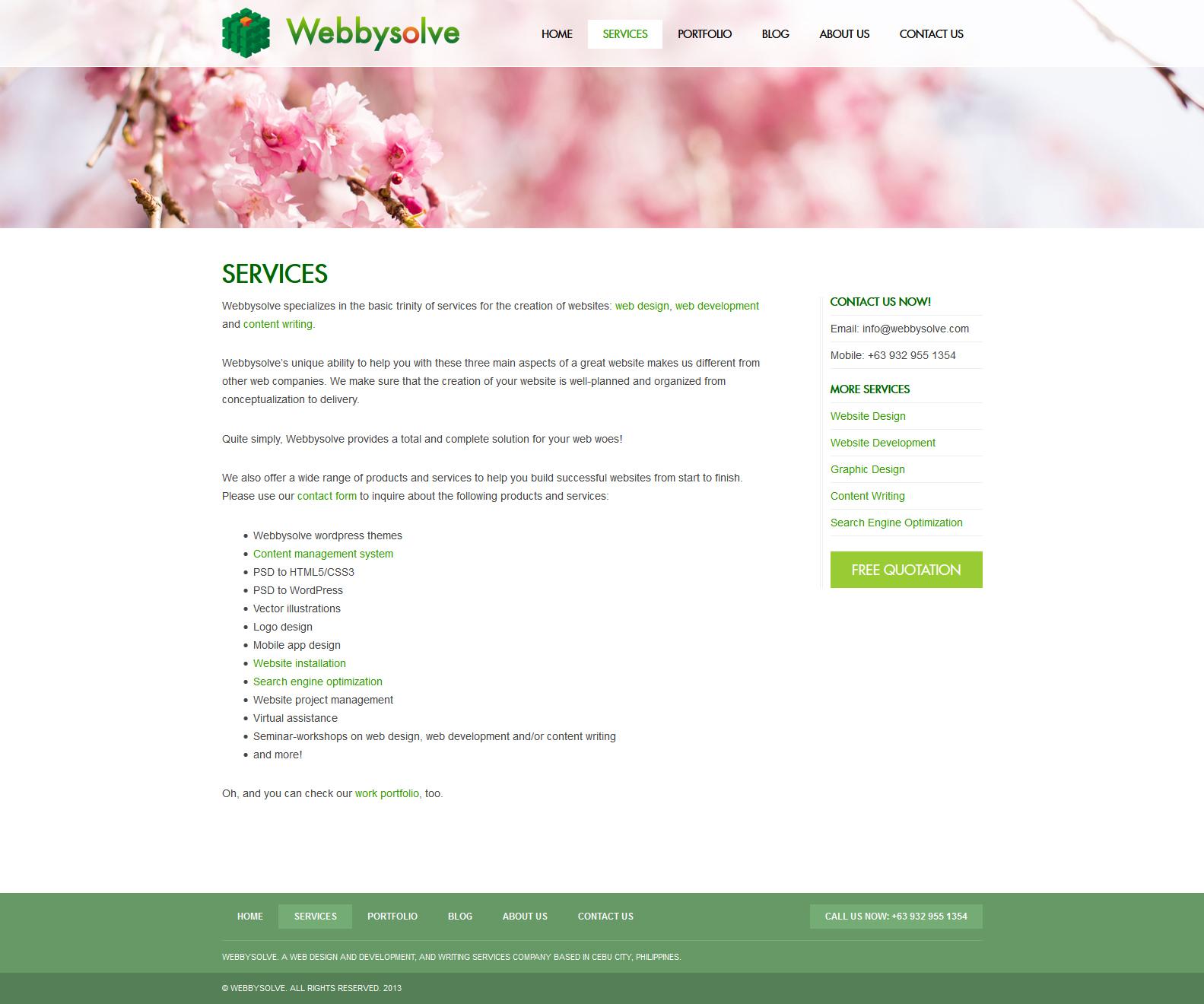 Webbysolve - Services